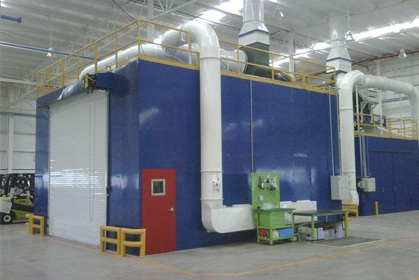 Hornos y casetas de pintura para la industria HVAC